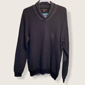 Tasso Elba shawl neck sweater Large